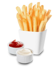 French Fries served with mayo and ketchup