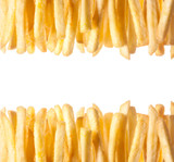 Border of crisp golden French Fries
