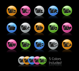 Folder - The EPS includes 5 color versions in separated layers