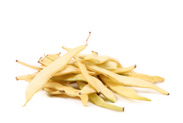 Pile of yellow wax bean pods.