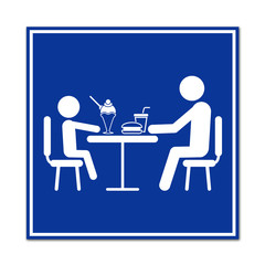 Cartel simbolo restaurante