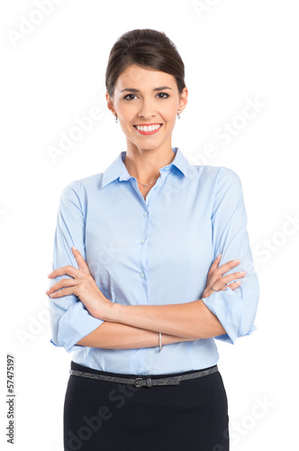 Young Happy Smiling Businesswoman