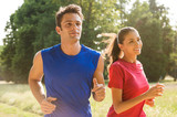 Fototapety Young Couple Jogging Together