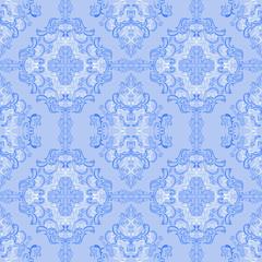 Seamless gently-blue retro Wallpaper.