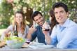 Man Drink Glass Of Wine
