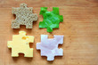 Food puzzle ingredients diet creative abstract concept