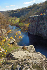 View of the canyon in autumn