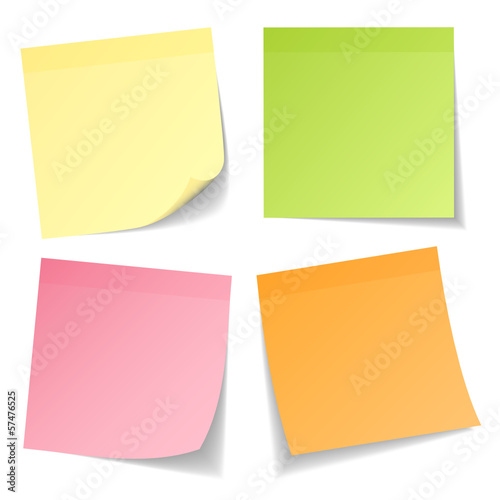4 Stick Notes Mix Colors