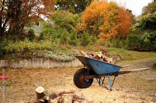 wheelbarrow waiting