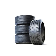 Stapel Reifen ohne Felge