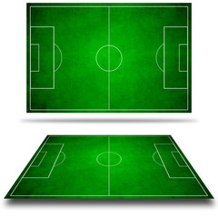 3d image of green soccer field, football