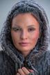 Young woman wearing hoodie