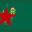 Christmas Tree Glasses Star & Symbols Green Dots