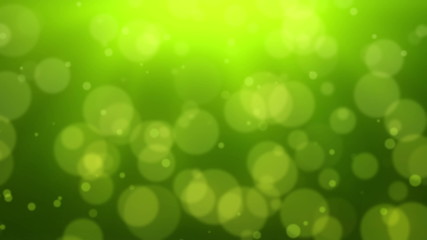 Green Bokeh dot background