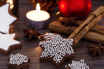 Cookies, cinnamon, pine, Christmas