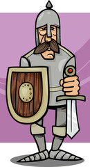 knight in armor cartoon illustration