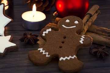 Gingerbread man and other Christmas cookies