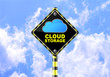 CLOUD STORAGE ROAD SIGN