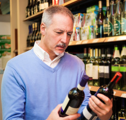 Man choosing wine