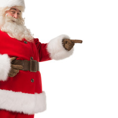 Santa Claus gesturing his hand isolated over white background. P