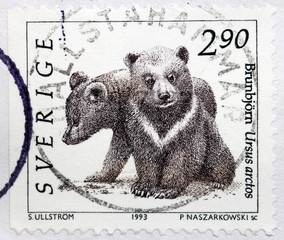 Bear Cubs Stamp