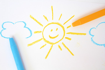 Sun and cloud drawing