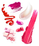 Smears of cosmetics