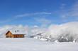 Fototapeten,berghütte,schnee,alpen,berg