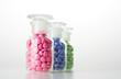 Glasbehälter mit Tabletten 05