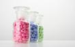 Glasbehälter mit Tabletten 06