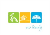 Home, plant, water lily , nature, Eco friendly business logo