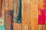 Colorful stylish old wooden parquet staves texture background.