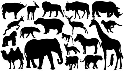 african_mammal_silhouettes