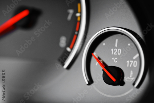 Coolant temperature gauge