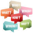 Speech Bubble Questions Retro