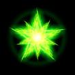 Green fire star.