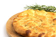 typical italian flatbread with rosemary