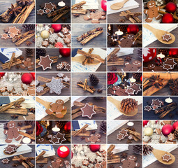 Collage - Christmas cookies
