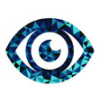 Blue eye triangle pattern design