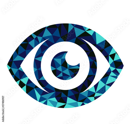 Blue eye triangle pattern design