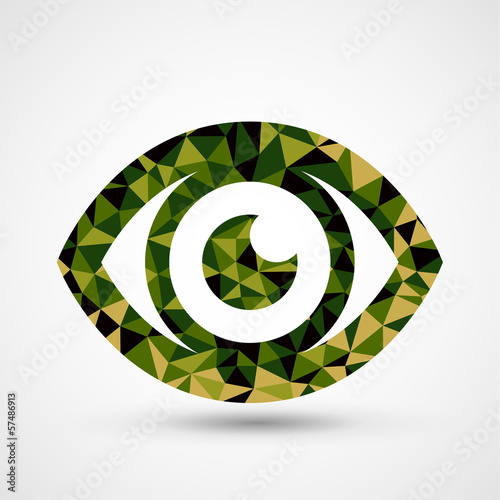 Green eye triangle pattern design