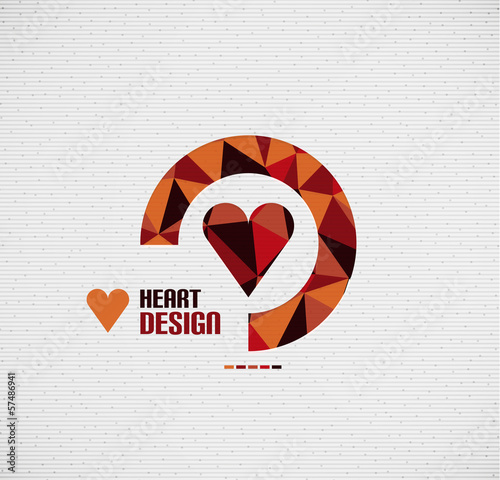 Mosaic heart vector design