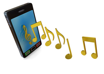 MOBILE PHONE AND MUSIC - 3D