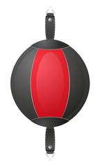 punching bag for boxing vector illustration
