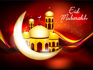 abstract eid background with sparkle