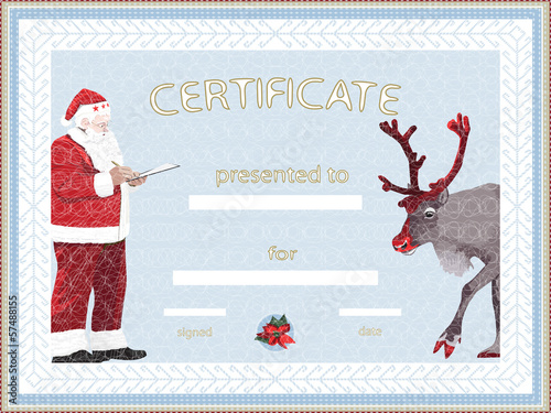 Certificate provided by Santa Claus