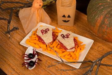 Halloween sandwiches