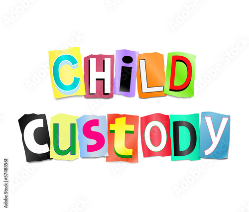 Child custody concept.