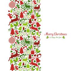 Weihnachtskarte aus weihnachtlichen Symbolen