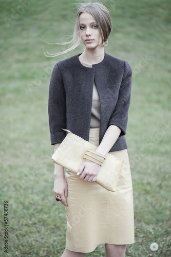 fashion model outdoor portrait